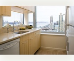 Midtown West 1 Bedroom / 1 Bathroom with Hudson River Views, Floor-to-ceiling Windows, Walk-in Closet. No Broker Fee.