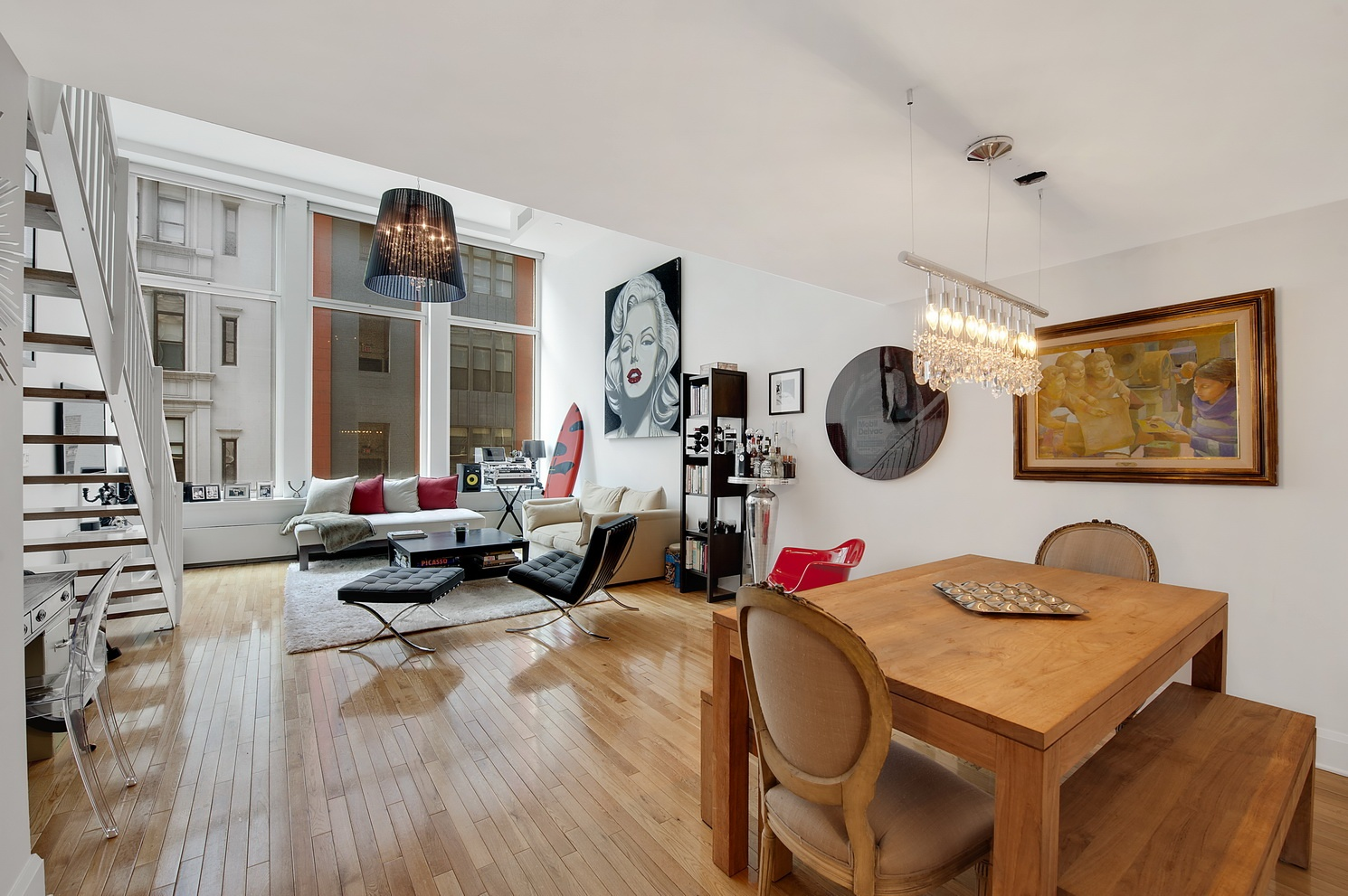 Duplex one bedroom loft in chelsea with 15 foot ceilings 1 for Loft in manhattan for sale